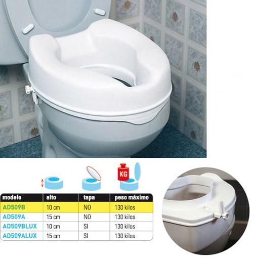 Alza de inodoro sin tapa eco 10 cm for Tapa para inodoro