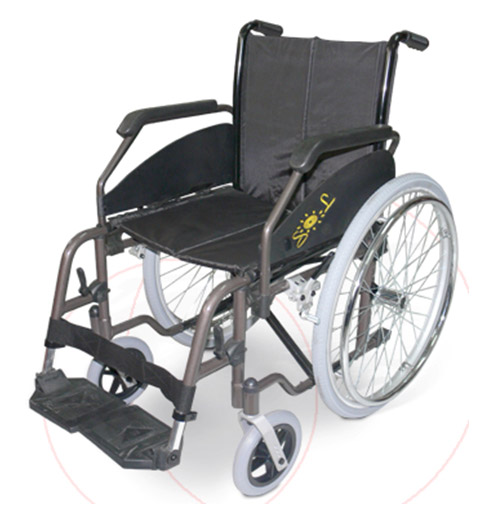 Silla de ruedas sol for Sillas de ruedas estrechas